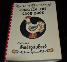 Vtg 1940's Priscilla Art Church Cook Book SMORGASBORD 300 Pages Kansas City MO