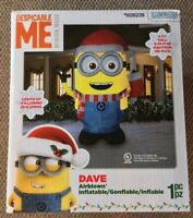 RETIRED 9 FT TALL Despicable Me DAVE Minions Inflatable Airblown Gemmy XMAS NIB