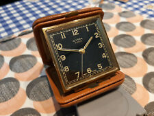 More details for vintage cyma amic travel clock alarm mechanical swiss made