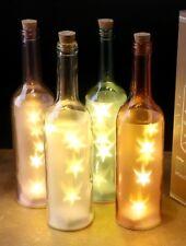 Farbige Flasche Stern Sterne LED Beleuchtung Lichtobjekt Lampe Leuchte Deko