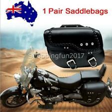 2pcs Motorcycle PU Luggage Saddle Bags Fit Harley Sportster XL883 1200 Black NEW