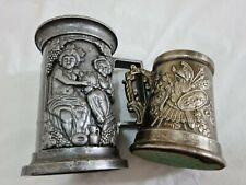More details for vintage embossed pewter tankard & knight table lighter bundle (see description)
