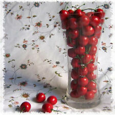 20Pcs Mini Artificial Fake Plastic Cherry Fruit Food Party House Garden Decor