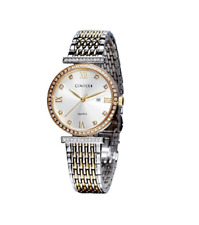 Women's Watches Swiss Quartz Analogue with Stainless Steel Bracelet Date Window