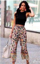 Zara Multicolore Combinaison imprimée fluide Pantalon Taille S UK 8