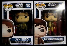 STAR WARS Erso (Hooded) & Cassian (Brown Jacket) Limited Edition - Funko Pop!