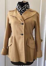 VTG 40'- 50's  Coat Jacket Camel Black Rhinestone Cuff Wrap Lauren Bacall