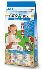 40L Cats Best Universal Einstreu Pellets für Katzen Kleintiere Hasen Hamster XXL