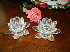 Shannon Crystal Lighting by Design Candleholders a pair of two