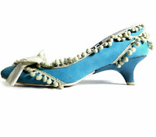 Irregular Choice Shoes Size 7 Turquoise Blue Suede Low Pumps *LOVELY* sz 7