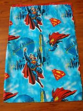 Superman Twin Flat Sheet DC Comics Bedding Linens Superheroes