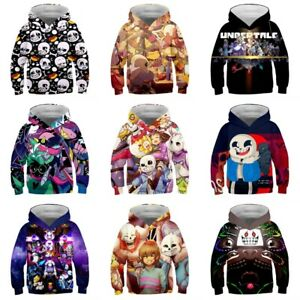 Undertale Sans Papyrus Hoodie Kid's Sweater Coat Jacket Sweatshirt Cosplay