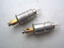 B(M09) MOTOBECANE 2 PORTE AMPOULES + 2  AMPOULES 12V 2W DE COMPTEUR LUXE EXPORT