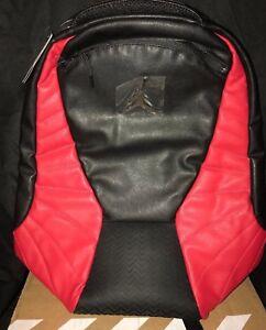 Nike Jordan Retro 12 Flu Game Backpack Book bag