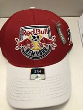 NEW YORK RED BULLS MLS ADIDAS AUTHENTIC TEAM STRUCTURED HAT SMALL/MEDIUM
