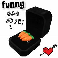 3 Carrot Karat Engagement Ring with Jewelry Box - Funny Gag Prank Joke Novelty