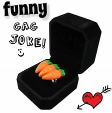 3 Carrot Karat Engagement Ring with Jewelry Box - Funny Gag Prank Joke Novelty