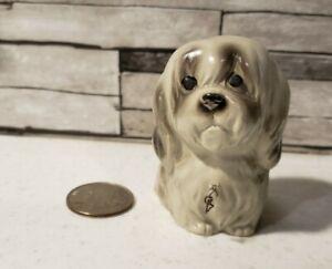 Vintage Old English Sheepdog Puppy Dog Figurine Cute