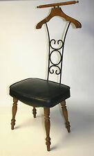 Vtg Valet Chair Seat Clothes Hanger Butler Suit Pants Gentleman's Furniture Iron