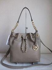 MICHAEL MICHAEL KORS Dark Taupe FRANKIE MD DRAWSTRING MESSENGER Bag Handbag