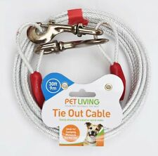 Tie Out Cable Dog/Cat/Pet (20ft) 6m X 5mm plastic cover