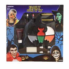Family Halloween Make Up Face Paint Kit Fancy Dress Witch Devil Vampire Skeleton