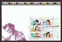 JIM CARREY = GREAT CANADIAN COMEDIANS = S/S from UNCUT sheet Pos.1 Canada 2014