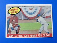 1959 TOPPS MICKEY MANTLE 42nd HOME RUN BASEBALL CARD #461 ~ VG/EX ~