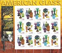 Scott 3325-28 - 33 Cent American Glass, Mini Sheet of 15 MNH  CV $27.50