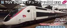 Kato N Scale 10-1324 TGV Duplex New Color Railroad Carmillon 10 Cars Set SNFC