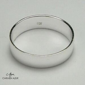 Solid 925 Sterling Silver Midi Ring Polished Plain Band 4mm wide New + Gift Bag