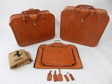 Original Ferrari 348 355 Complete 3 Piece Schedoni Tan Leather Luggage Set