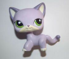 Littlest Pet Shop Animal Green Eyes Purple Cat Kitty Figure Doll Child Toy UK