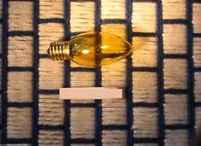 Box of 24 } TWINKLE blink flash TRANSPARENT YELLOW C9 CHRISTMAS light bulb 7C9