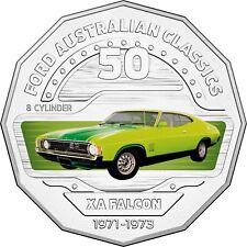 2017 Australia 50c Coloured Unc Coin - 1973 XA Falcon Superbird Ford Classic Car