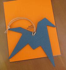 """"""" HERMES """" Bijou de Sac Femme Origami Horse Cheval en cuir bicolore Neuf"""