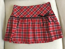 New Old Navy Kids Girls Holiday Plaid Short Skirts, Red/Black Size Girls 16