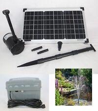 20 W Solar Tauch Teich Pumpe m. AKKU Batterie Gartenteich Bachlauf Springbrunnen