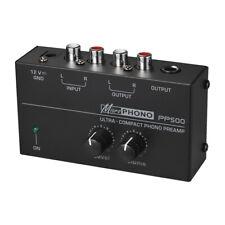 Phono Preamplificatore ultracompatto con controlli di livello e volume Ingresso
