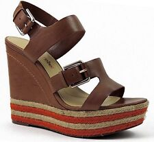 Luxury Rebel Women's Nelly Platform Sandals Natural Leather Size EU 41