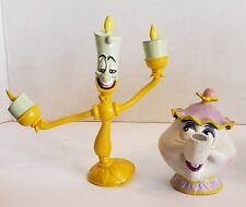 2)Beauty~Beast Lumiere~Mrs. Potts Disney Just Toys BendEm Bendable Action Figure