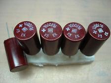 5x NOS ROE EK 1000uF/16V ROEDERSTEIN vintage bakelite capacitors for audio