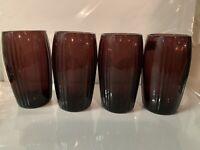 Amythest Depression Glass New Martinsville Oscar Pattern 4 Tumblers