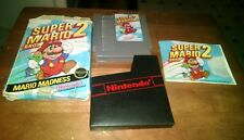 Super Mario Bros. 2 Nintendo NES Box Manual and Cartridge Tested