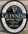 2016 Guinness Draught Stout Beer Tin Sign New Old Stock Metal Tacker
