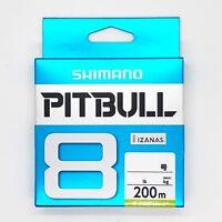 SHIMANO PITBULL X8 Braided Line PE 200m Lime Green Select LB Free Shipping
