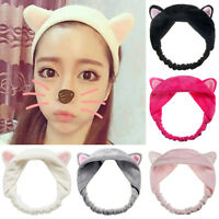 KQ_ PW_ Women Girl Ears Towel Hair Band Party Spa Bath Make Up Headband Novelty