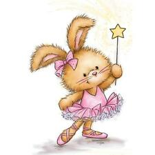 Bunny Ballerina Clear Unmounted Rubber Stamp Wild Rose Studio CL501 New