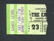 1980 Eagles Christopher Cross concert ticket stub Kansas City The Long Run Tour