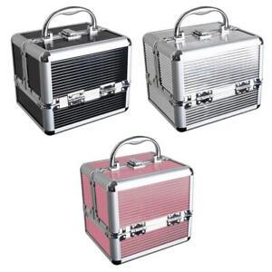 Aluminium Hard Make Up Travel Storage Box Cosmetic Beauty Vanity Case Organiser